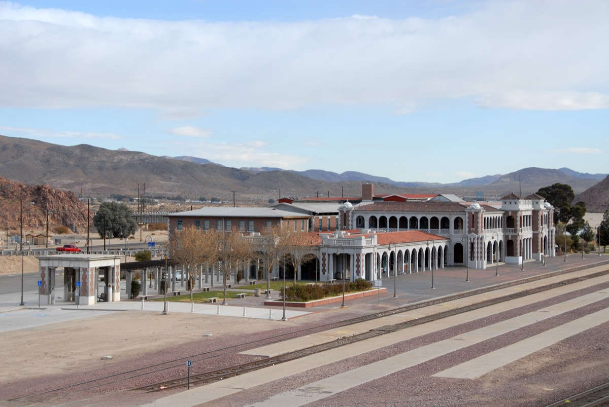 Railway station in Barstow, California