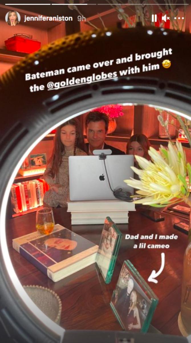 Jason Bateman at Jennifer Aniston's house during the Golden Globes