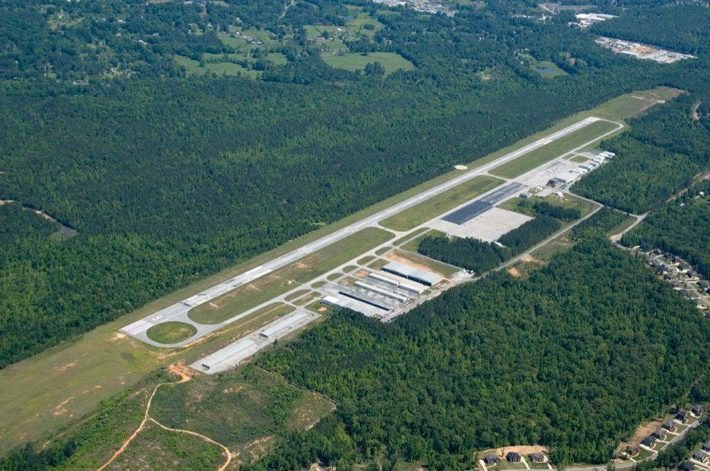 Aerial view of Bessemer Airport in Bessemer, Albama