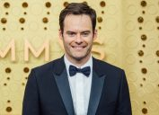 bill hader on the red carpet in a suit