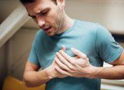 Young man having strange chest pain