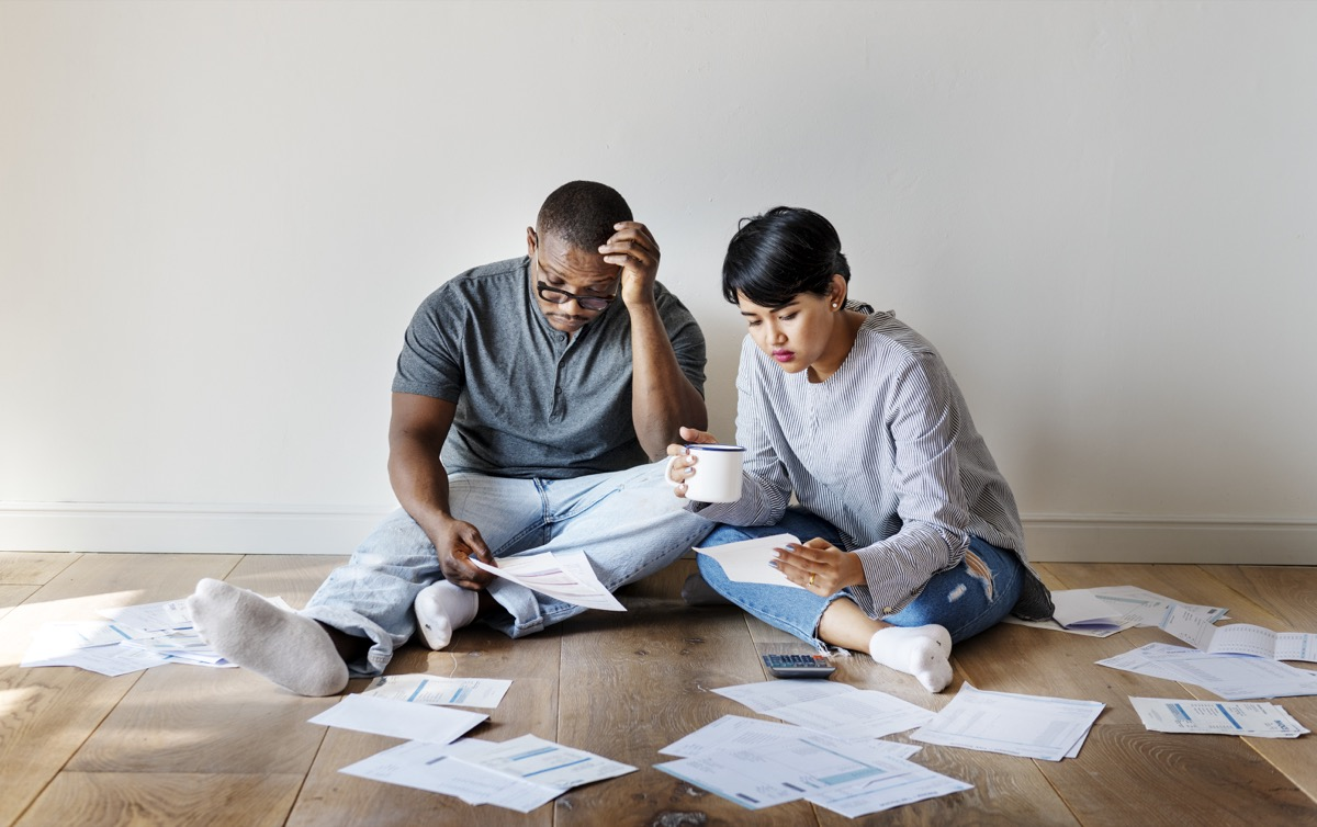 Couple managing the debt ***These documents are our own generic designs. They do not infringe on any copyrighted designs.
