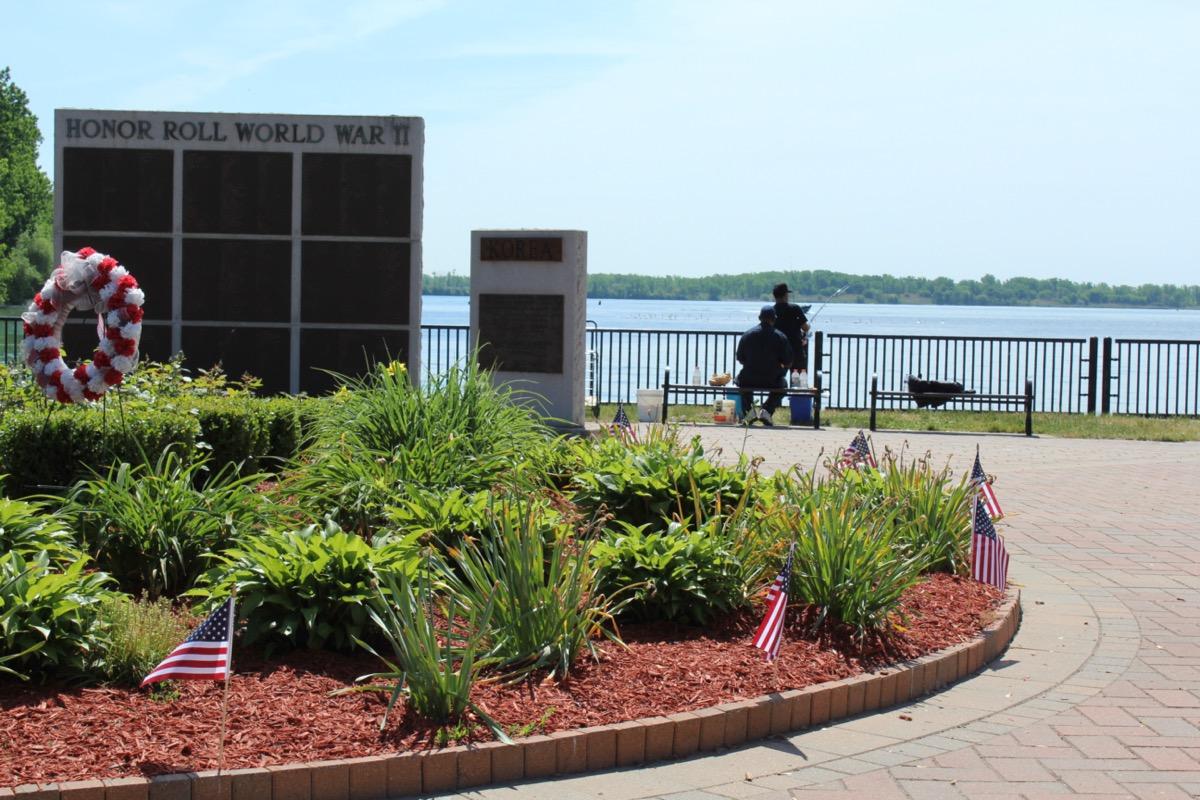 Memorial at Ecorse Riverfront Park in Ecrose, Michigan
