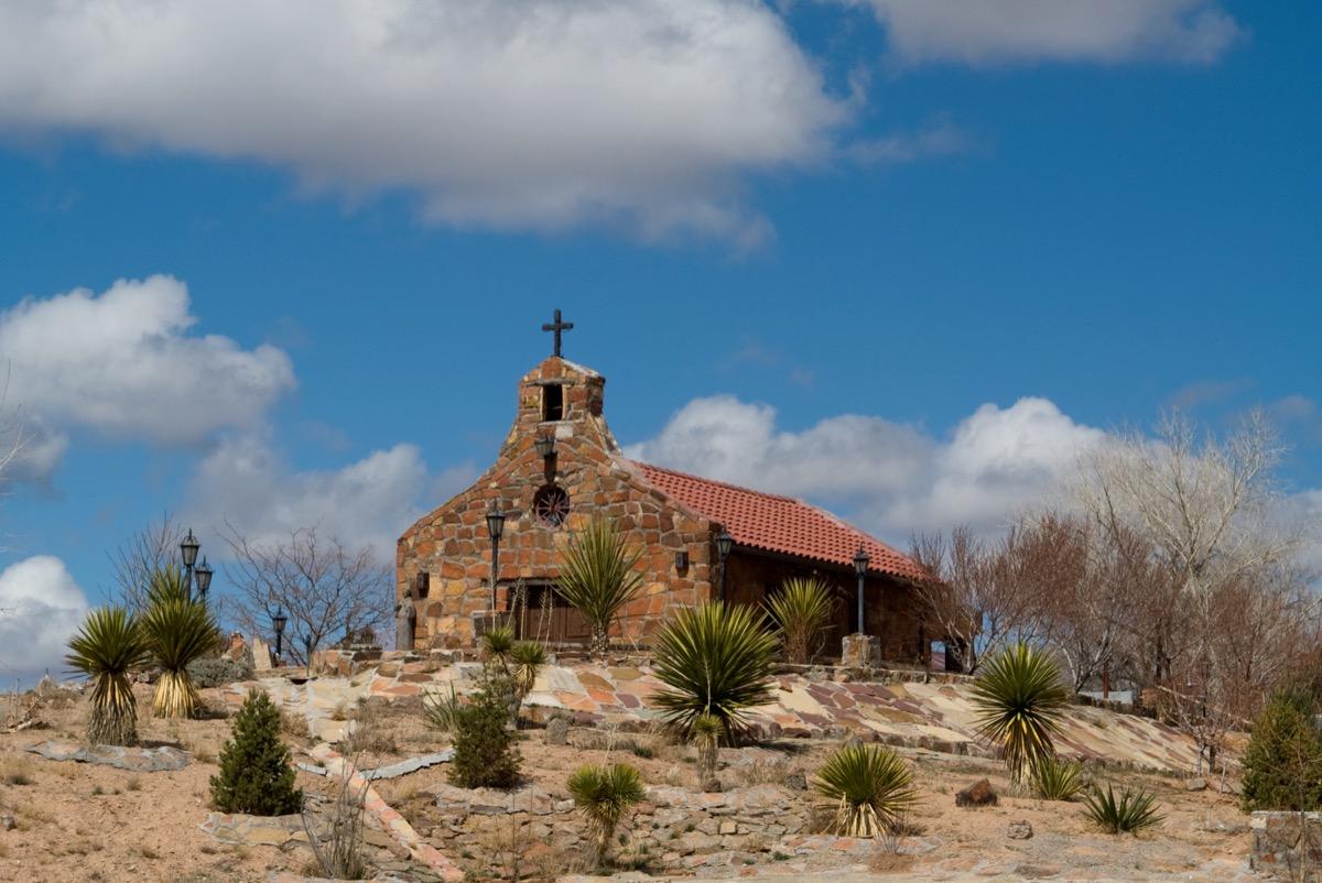 The Desert Chapel in Esponola, New Mexico