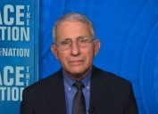 Dr. Anthony Fauci appearing on Face the Nation on March 7, 2021.