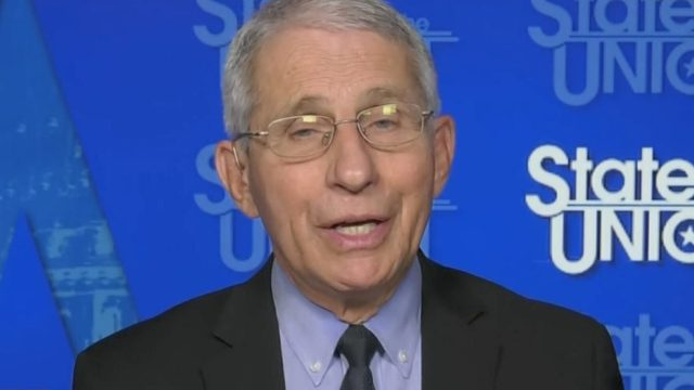 Dr. Anthony Fauci appearing on CNN's State of the Union on March 14, 2021