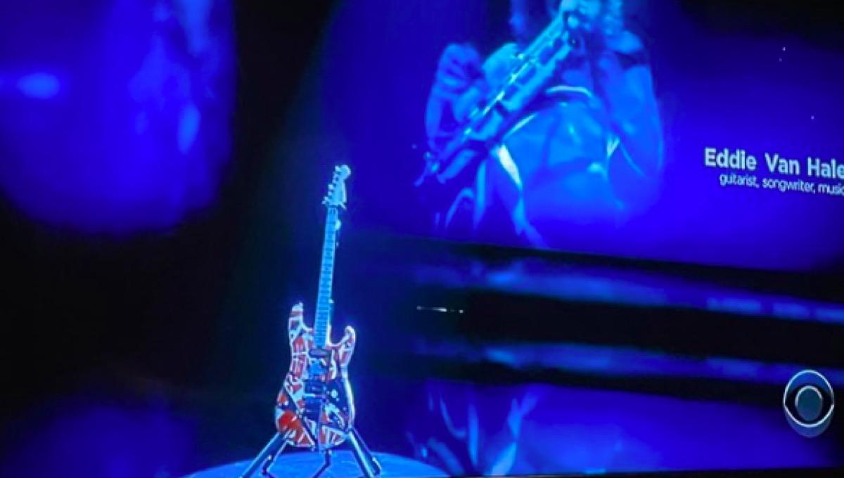 Wolf Van Halen's picture of Eddie Van Halen's Grammy's tribute