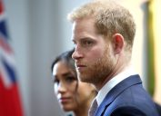 Meghan, Duchess of Sussex (L) and Britain's Prince Harry, Duke of Sussex, attend an event at Canada House, the offices of the High Commision of Canada in the United Kingdom, to mark Commonwealth Day, in central London, on March 11, 2019.