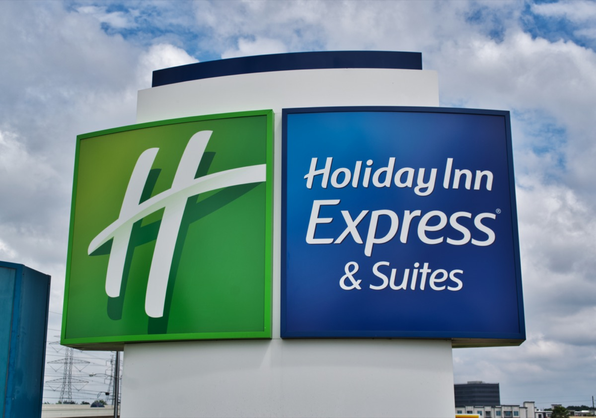Holiday Inn Express & Suites Sign in Houston, Texas