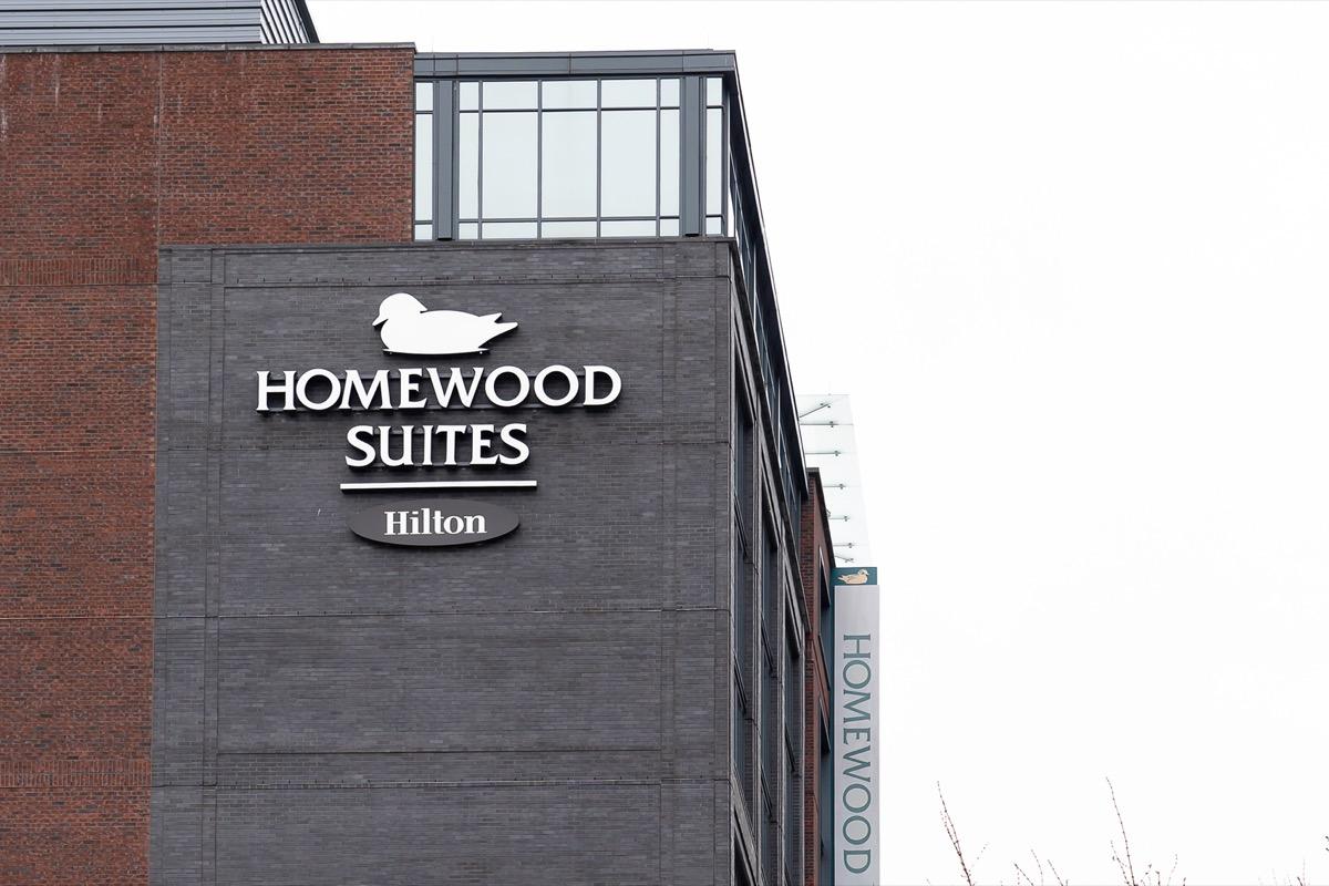 A Homewood Suites hotel building in Washington D.C.