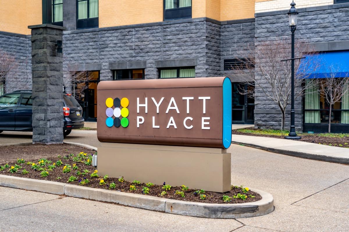 The Hyatt Place hotel in Pittsburg, Pennsylvania