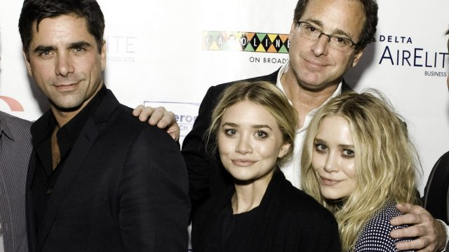John Stamos, Mary Kate Olsen, Bob Saget, and Ashley Olsen attend Cool Comedy Hot Cuisine 2009 Benefiting The Scleroderma Research Foundation at Carolines On Broadway on November 9, 2009 in New York City