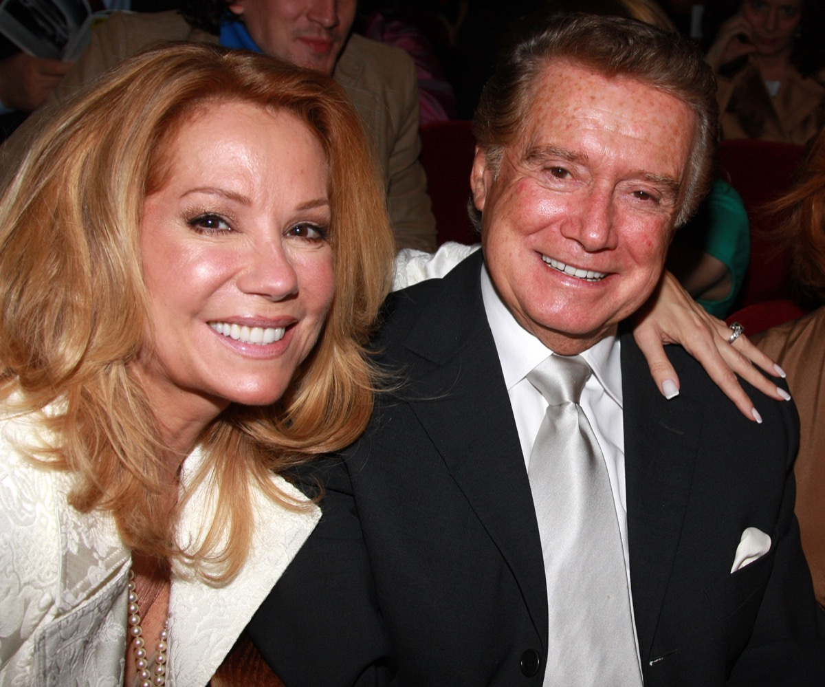 """Regis Philbin and Kathie Lee Gifford at the opening night of """"A Catered Affair"""" in 2008"""