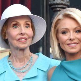 Kelly Ripa and mom Esther Ripa attend the ceremony honoring Kelly Ripa with a star on the Hollywood Walk of Fame on October 12, 2015 in Hollywood, California.