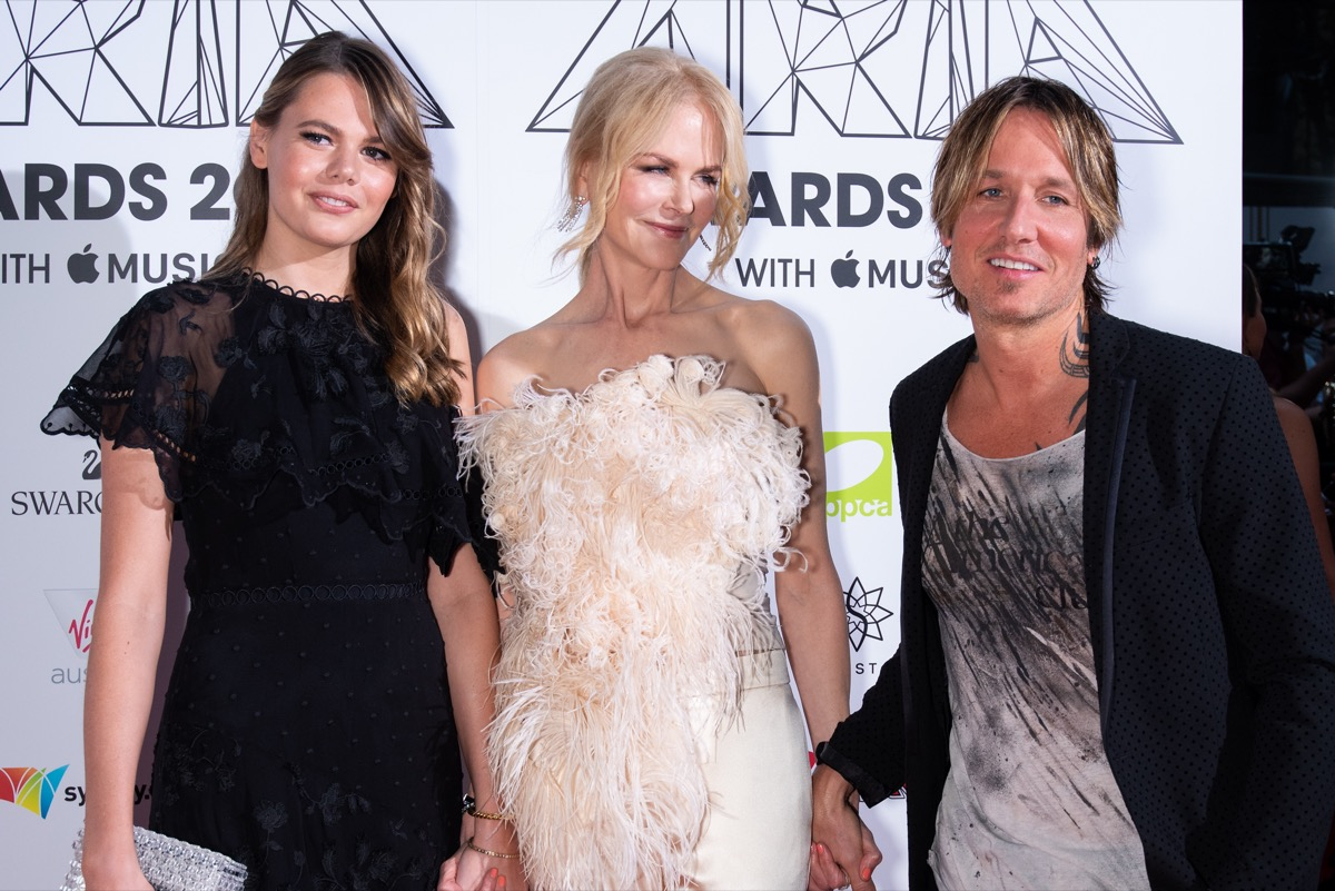 Keith Urban, Lucia Hawley, and Nicole Kidman at the ARIA Awards in 2018