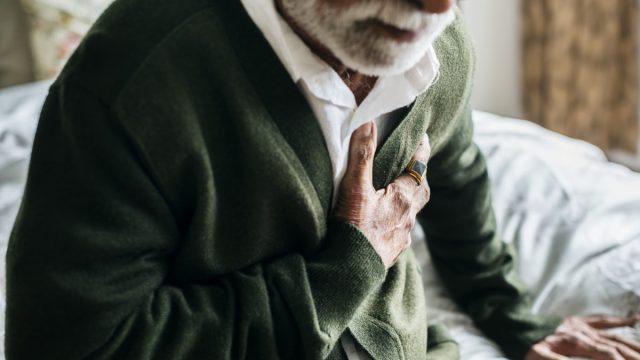 An elderly man with heart problems