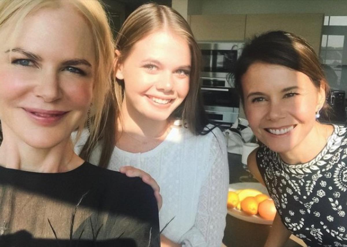 Nicole Kidman, Lucia Hawley, and Antonia Kidman