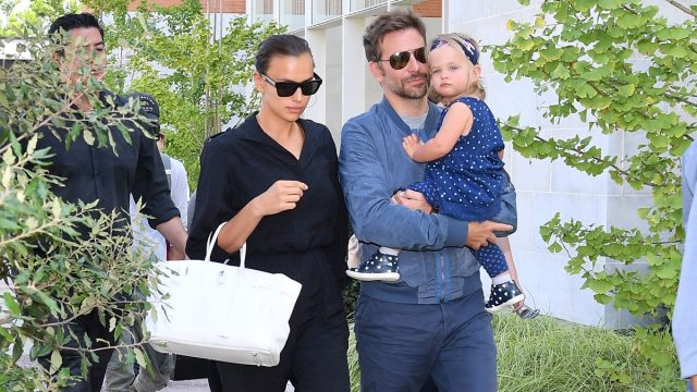 Bradley Cooper and Irina Shayk with their daughter Lea