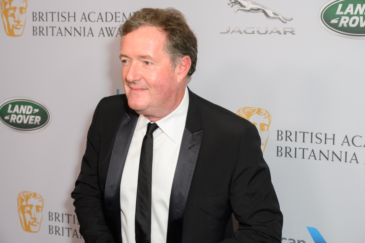 LOS ANGELES, CA / USA - October 25, 2019: Piers Morgan walks the red carpet at 2019 British Academy Britannia at on October 25, 2019 at The Beverly Hilton Hotel