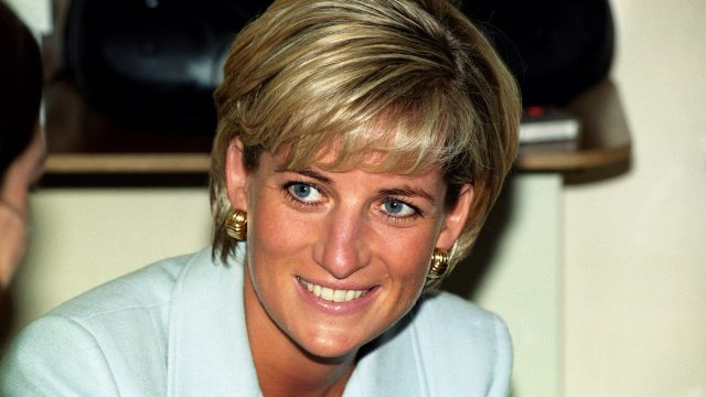Diana, Princess of Wales, at the Royal Brompton Hospital where she visited Cystic Fibrosis patients.
