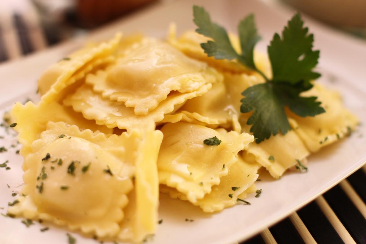 ravioli on plate