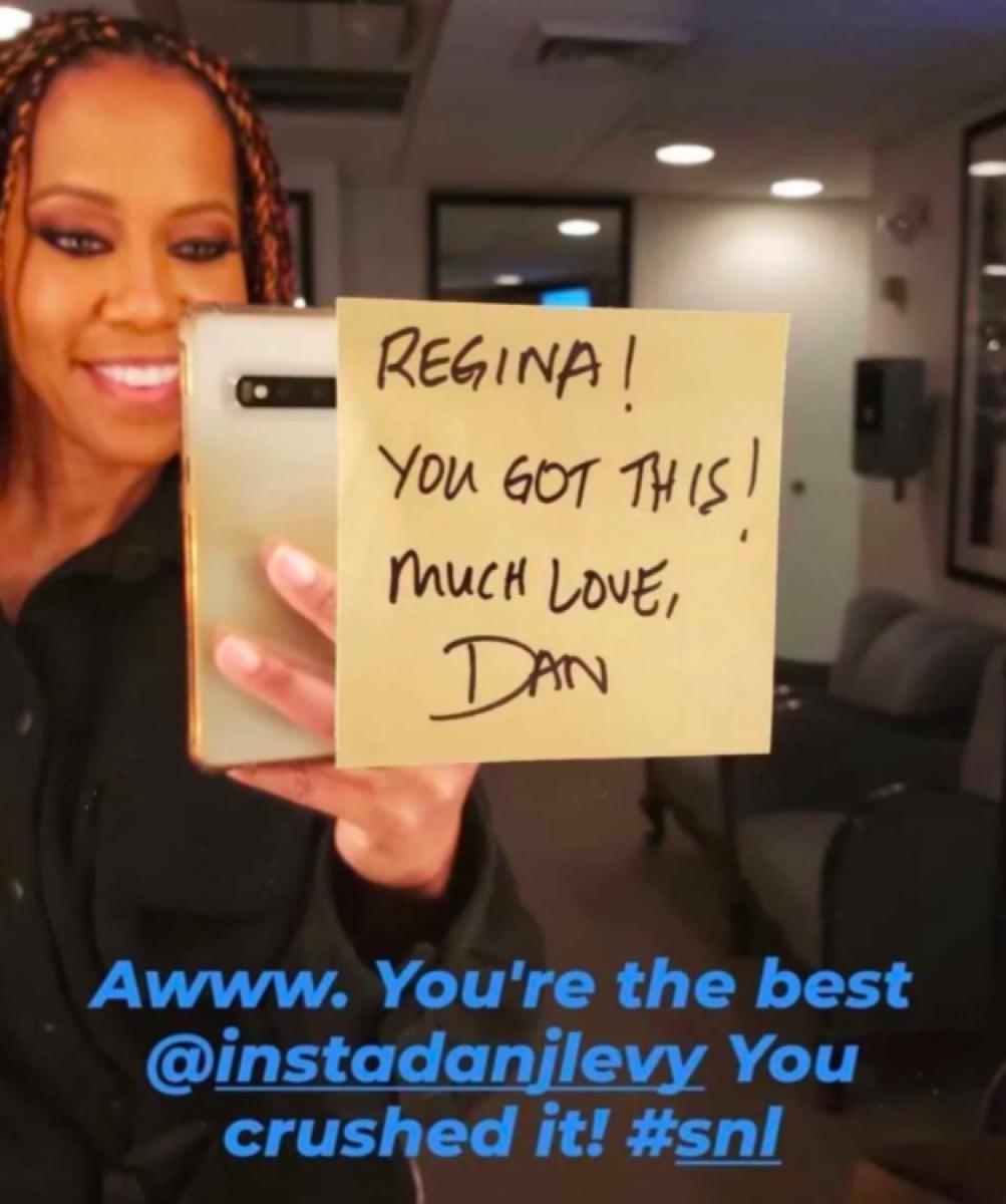 Regina King SNL note