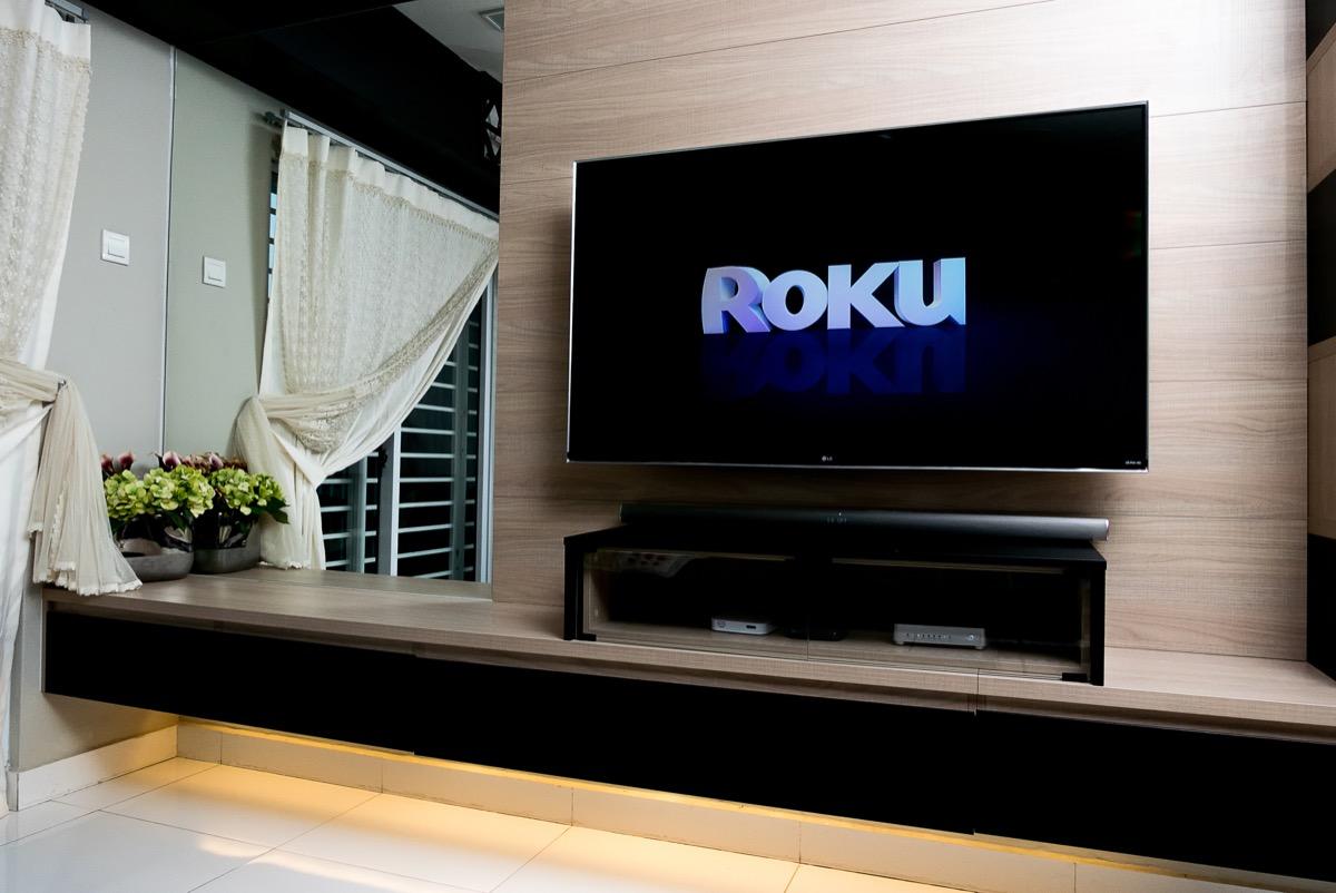 Roku screen on TV