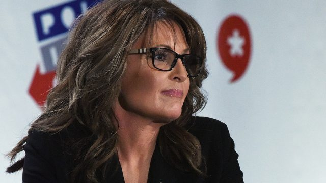 Former Governor Sarah Palin speaks during her appearance at Politicon at Pasadena Convention Center on June 26, 2016 in Pasadena, California