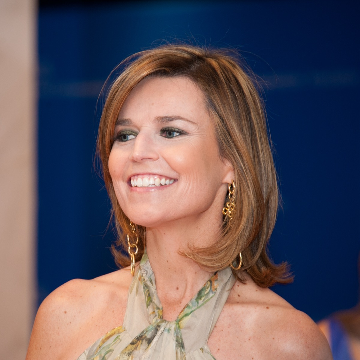 Savannah Guthrie at the White House Correspondents Dinner in 2013