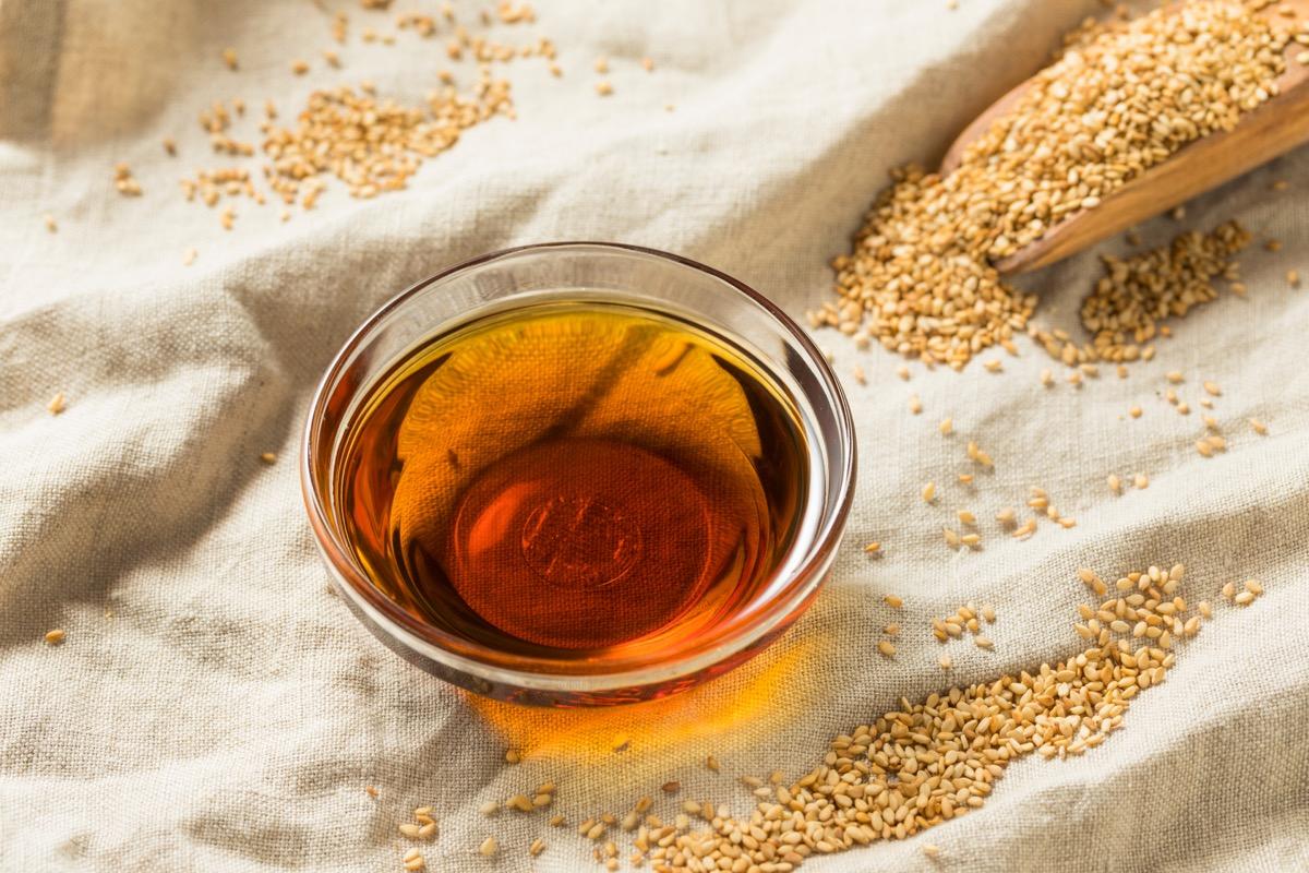 sesame oil in bowl