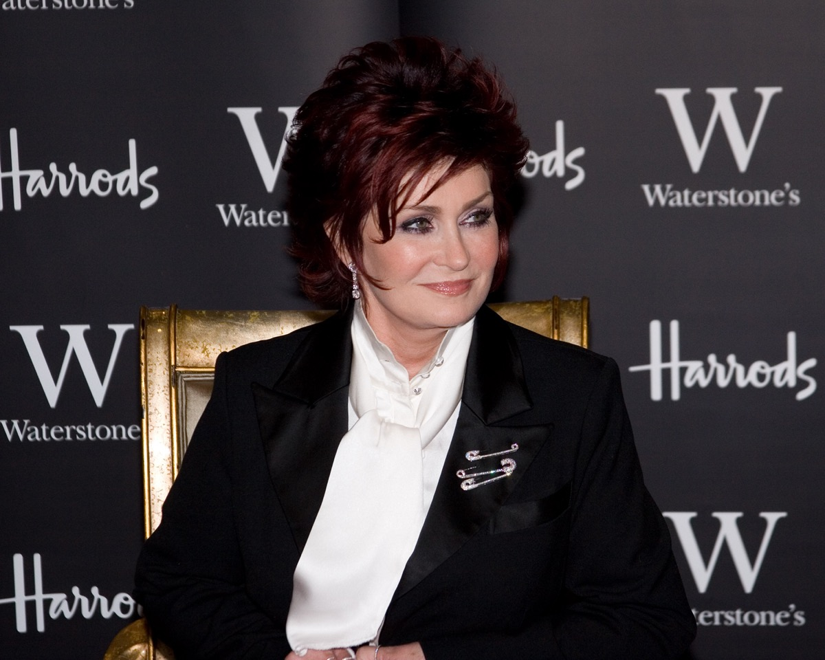 Sharon Osbourne at the Waterstones book store in Harrods, London, England