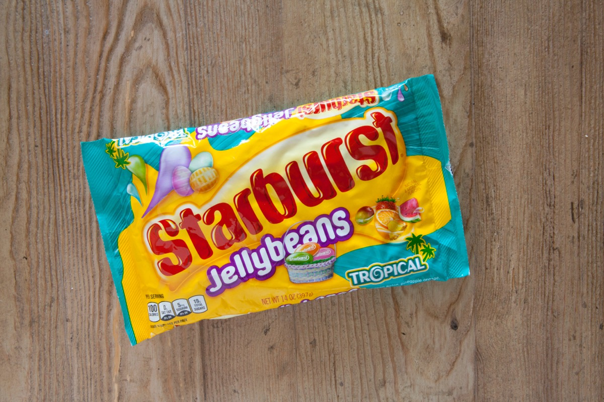 package of starburst jelly beans