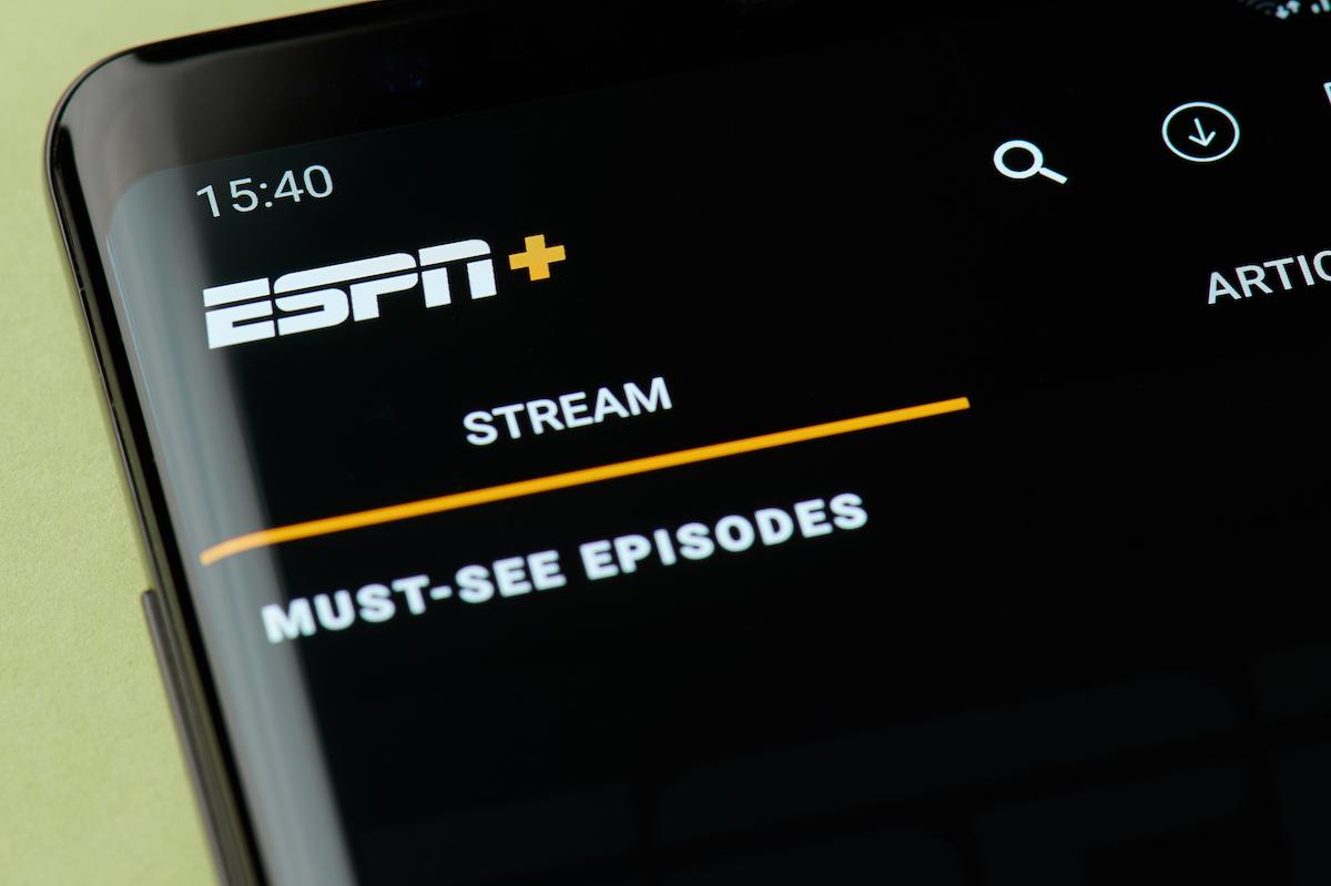 ESPN plus streaming app