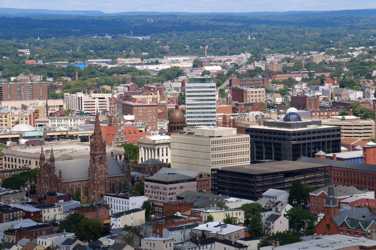 view of paterson, new jersey, near garret mountain reservation