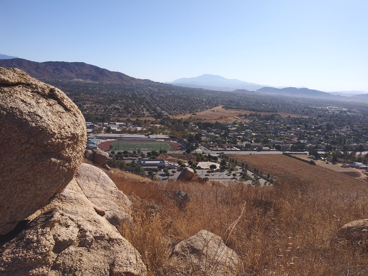 mountain view, moreno valley mountain, california