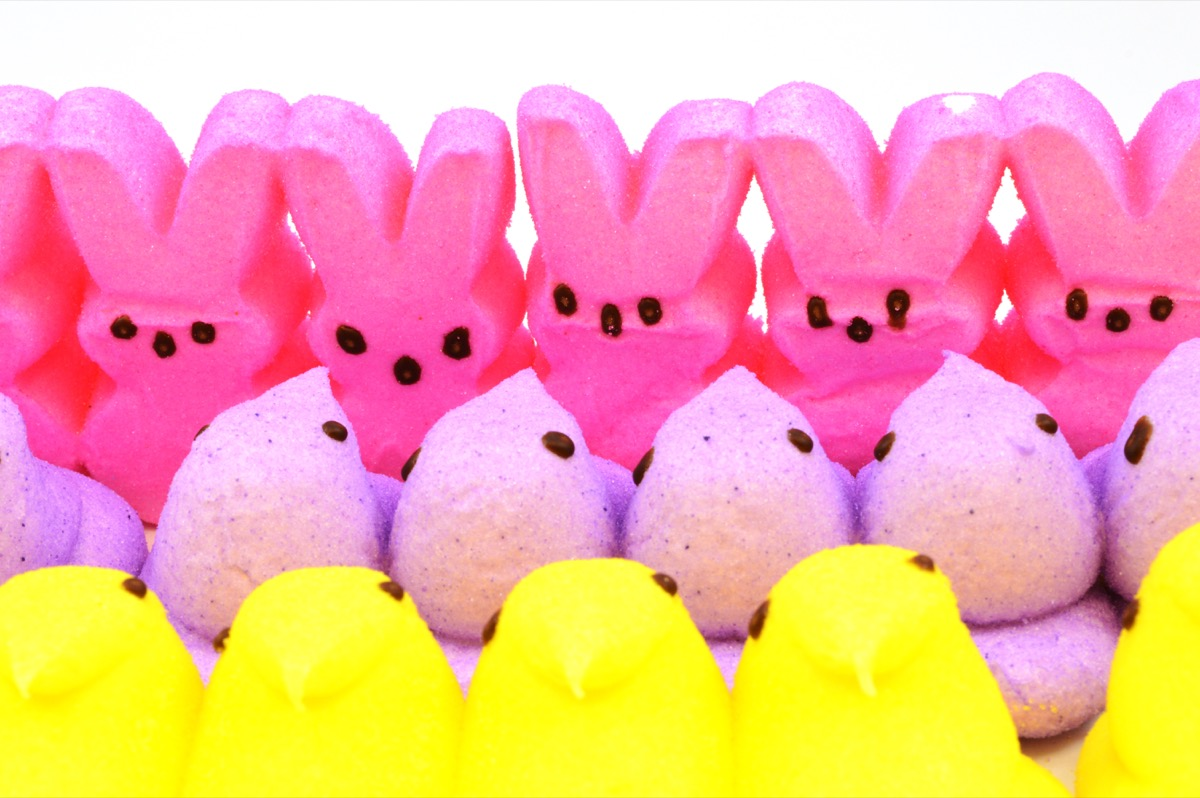 peeps, yellow and pink peeps, easter candy
