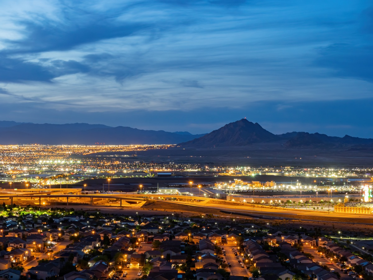 dusk view, frenchman mountain, city view henderson view pass, nevada