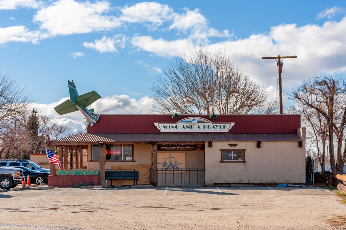 historic tavern building, mojave desert town, lancaster, california