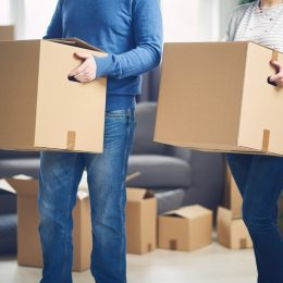 Couple moving into a new place
