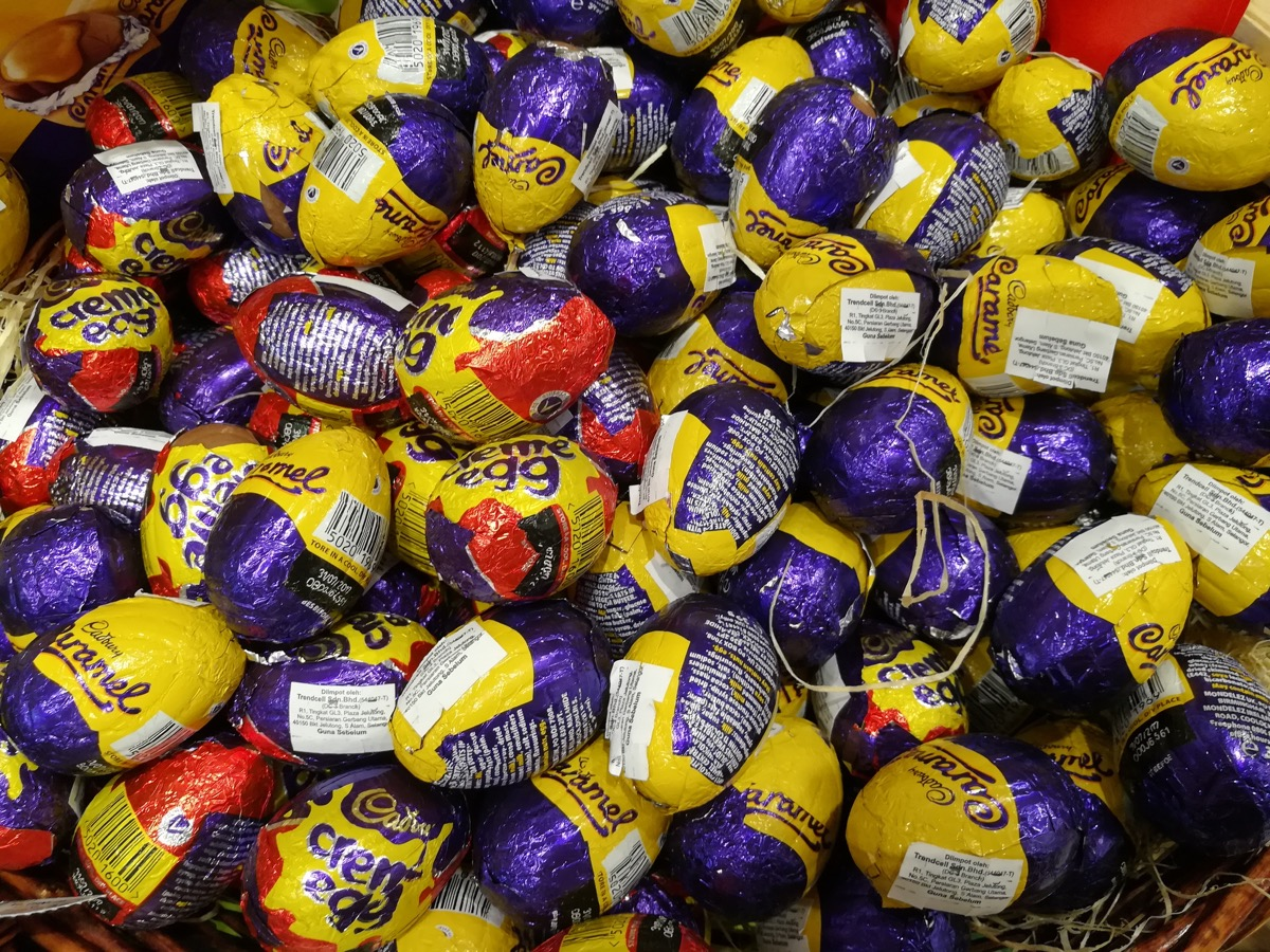 dozens of cadbury creme eggs