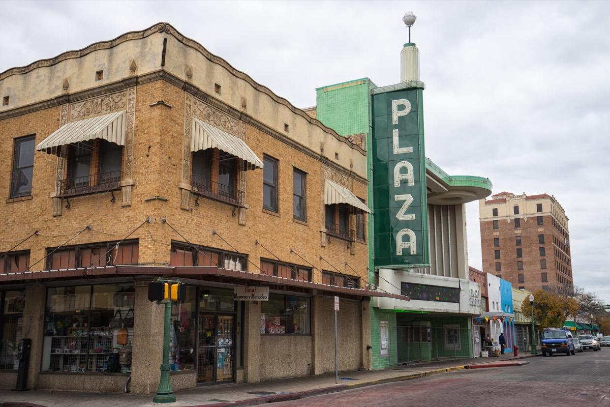 plaza theater, laredo, texas, street view building