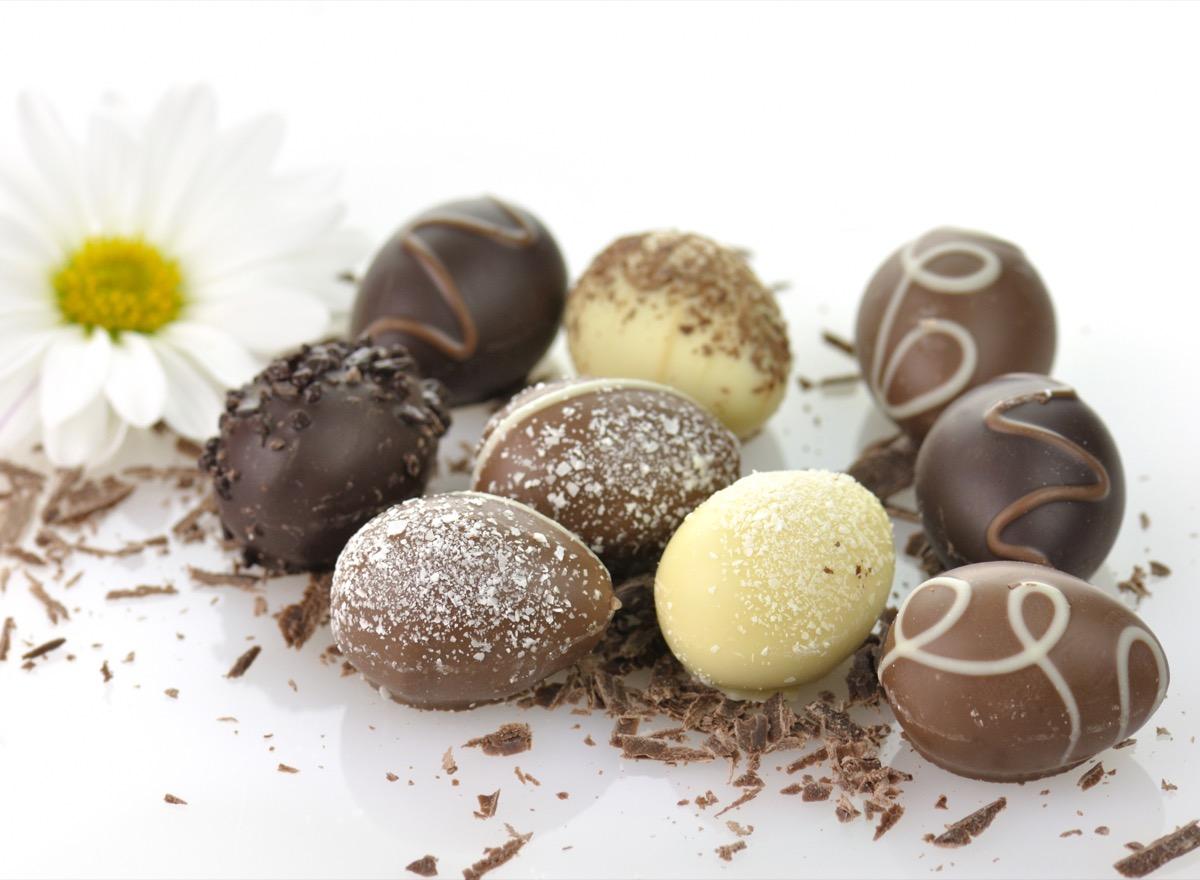 assortment of chocolate eggs