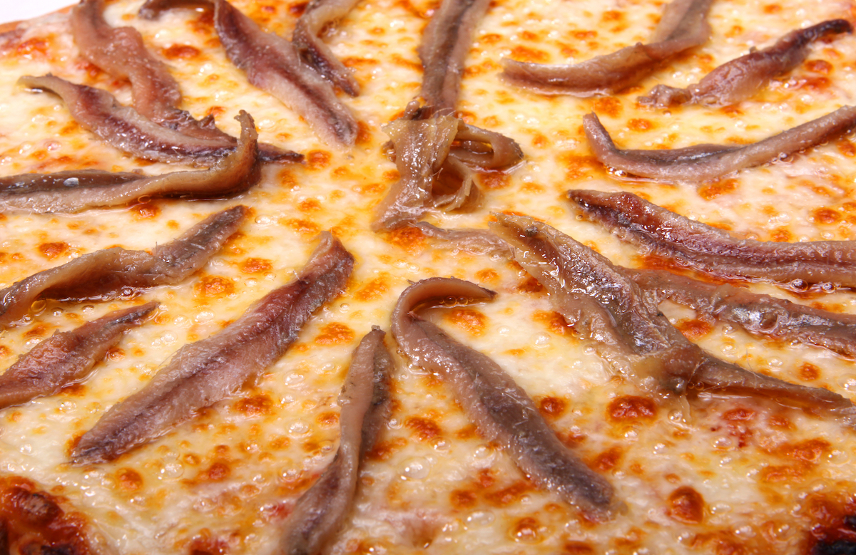 Anchovies on pizza