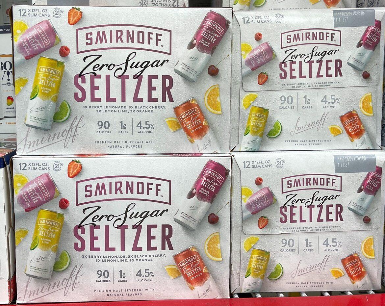 cases of Smirnoff Seltzer