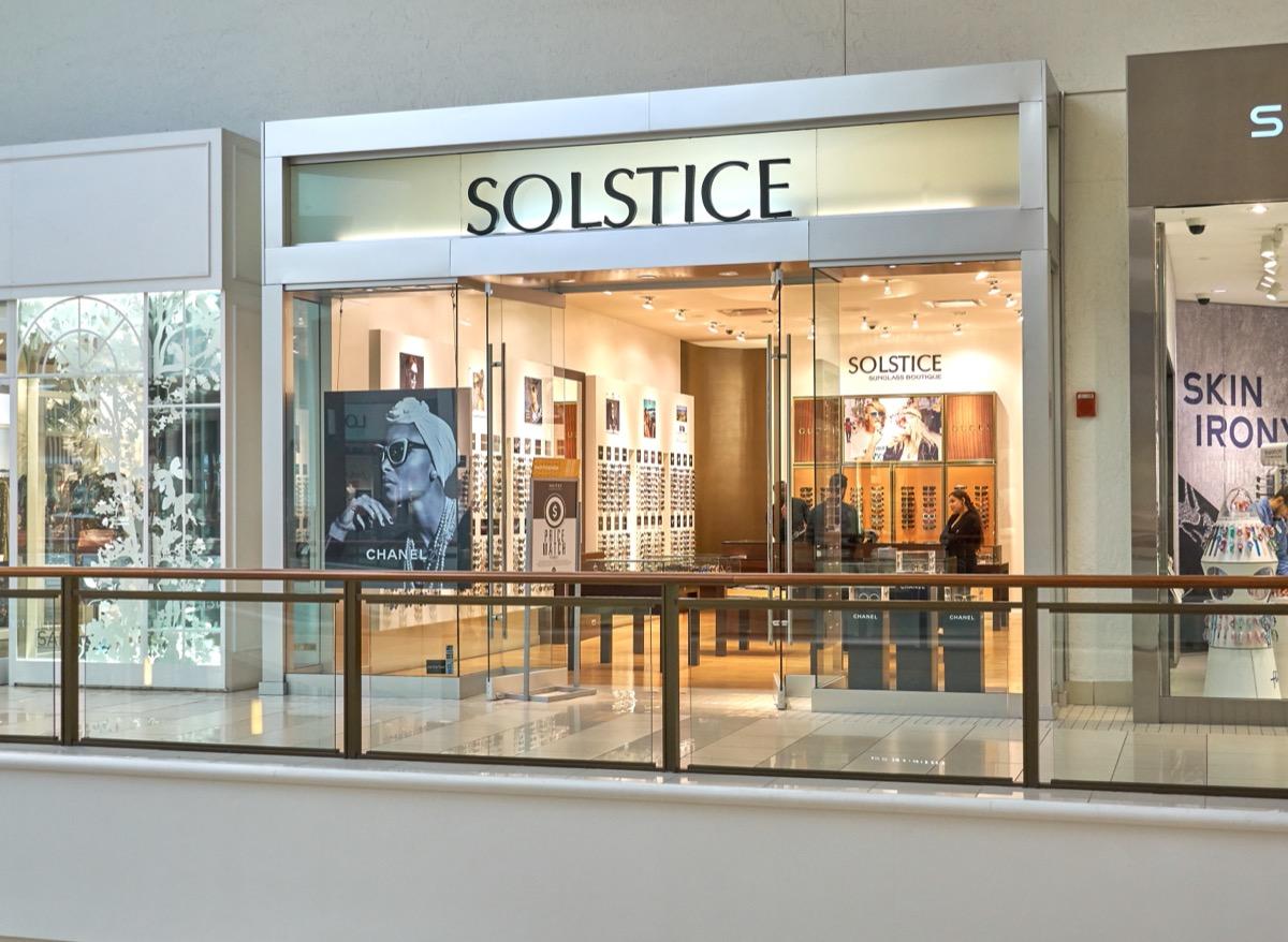 solstice sunglasses store exterior