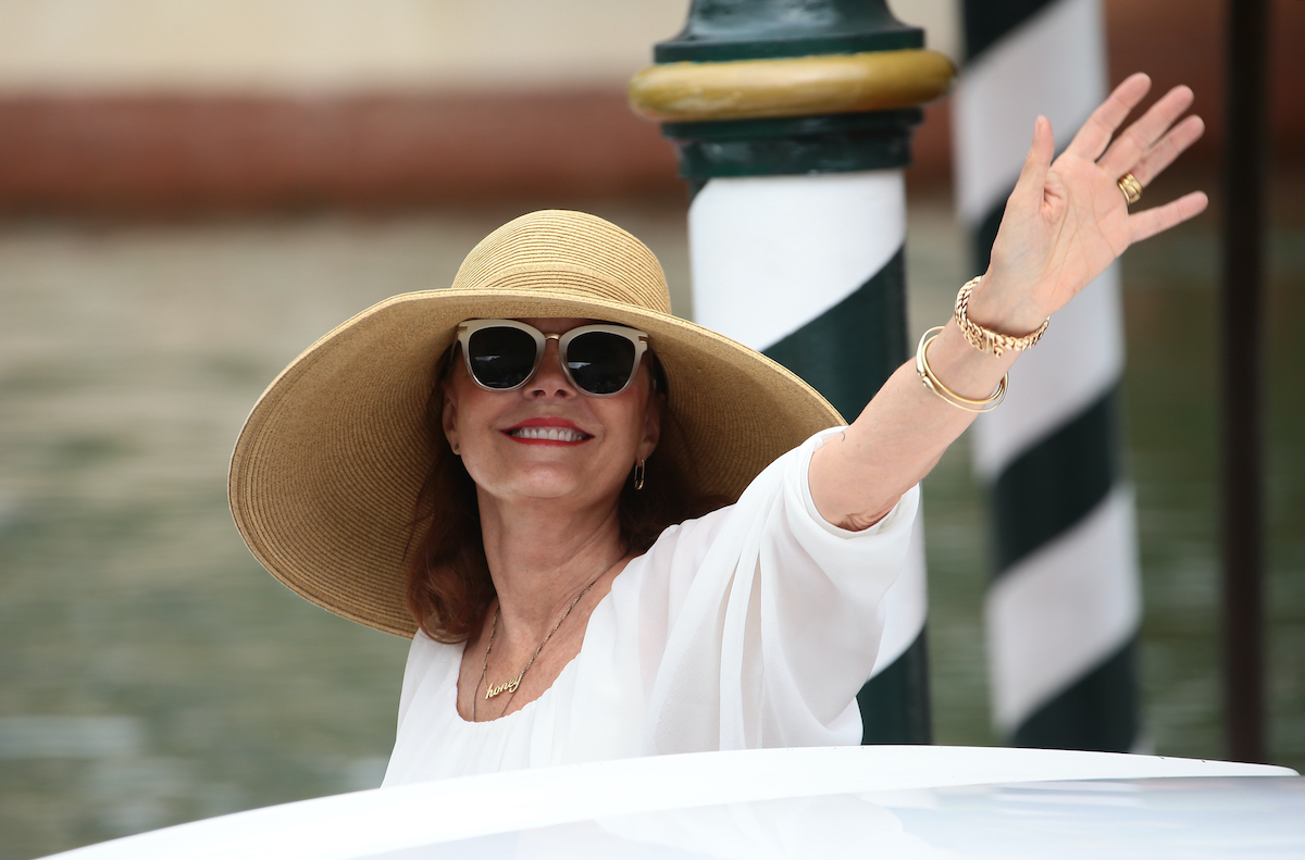 Susan Sarandon arrives at the Hotel Excelsior in Venice, Italy 2017