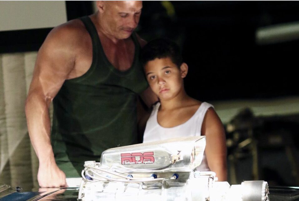 Vin Diesel and his son Vincent