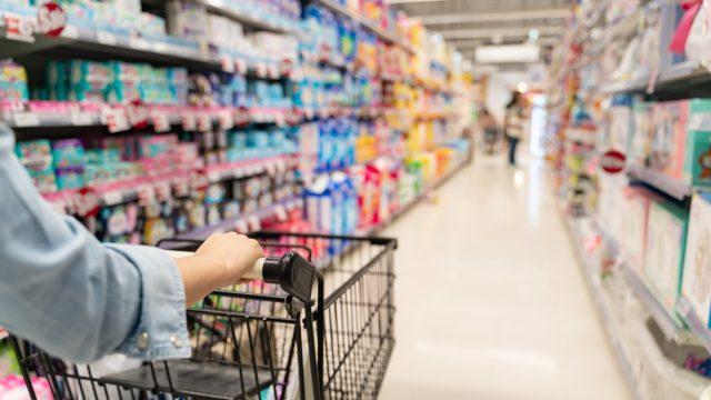 Woman shopping at Walmart