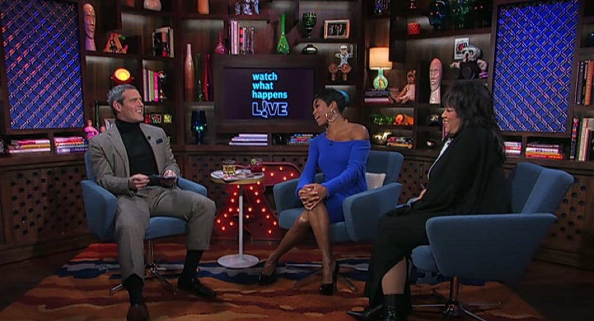 """Jackee Harry, Regina King, and Andy Cohen on """"Watch What Happens Live"""" in 2011"""