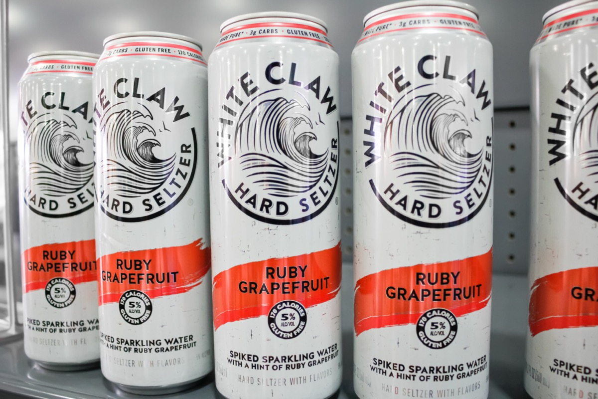 Several canes of White Claw Hard Seltzer